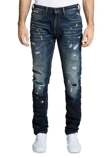 PRPS Le Sabre Distressed Skinny Fit Jeans in Leger