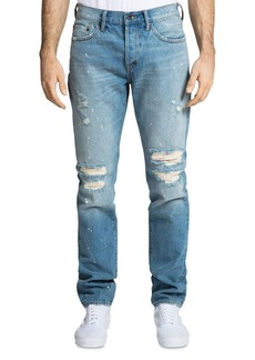 PRPS Le Sabre Distressed Skinny Fit Jeans in Raphaello