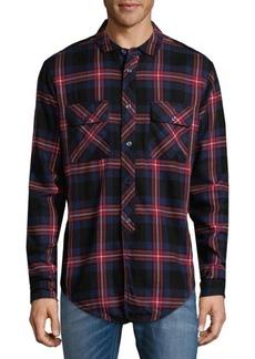 PRPS Plaid Cotton Button-Down Shirt