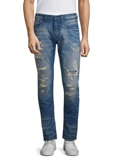 Prps Ripped & Repaired Slim-Fit Jeans