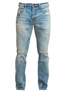 Prps Sabre Slim Fit Mid Rise Distressed Jeans