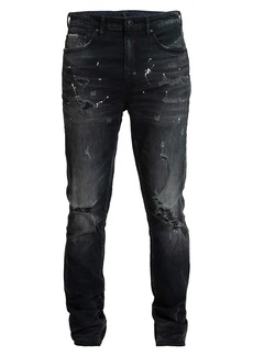 Prps Warlock Ripped Paint Splatter Super Skinny Jeans