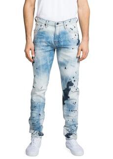 Prps Windsor Medium-Rise Skinny Stretch Light Wash Paint Detail Jeans