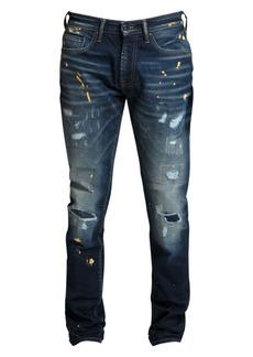 Prps Windsor Metallic Paint Splatter Skinny Jeans