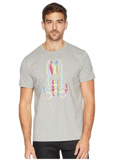 Psycho Bunny Abstrast Striped Bunny Graphic Tee