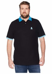Psycho Bunny Big and Tall Striped Collar Polo