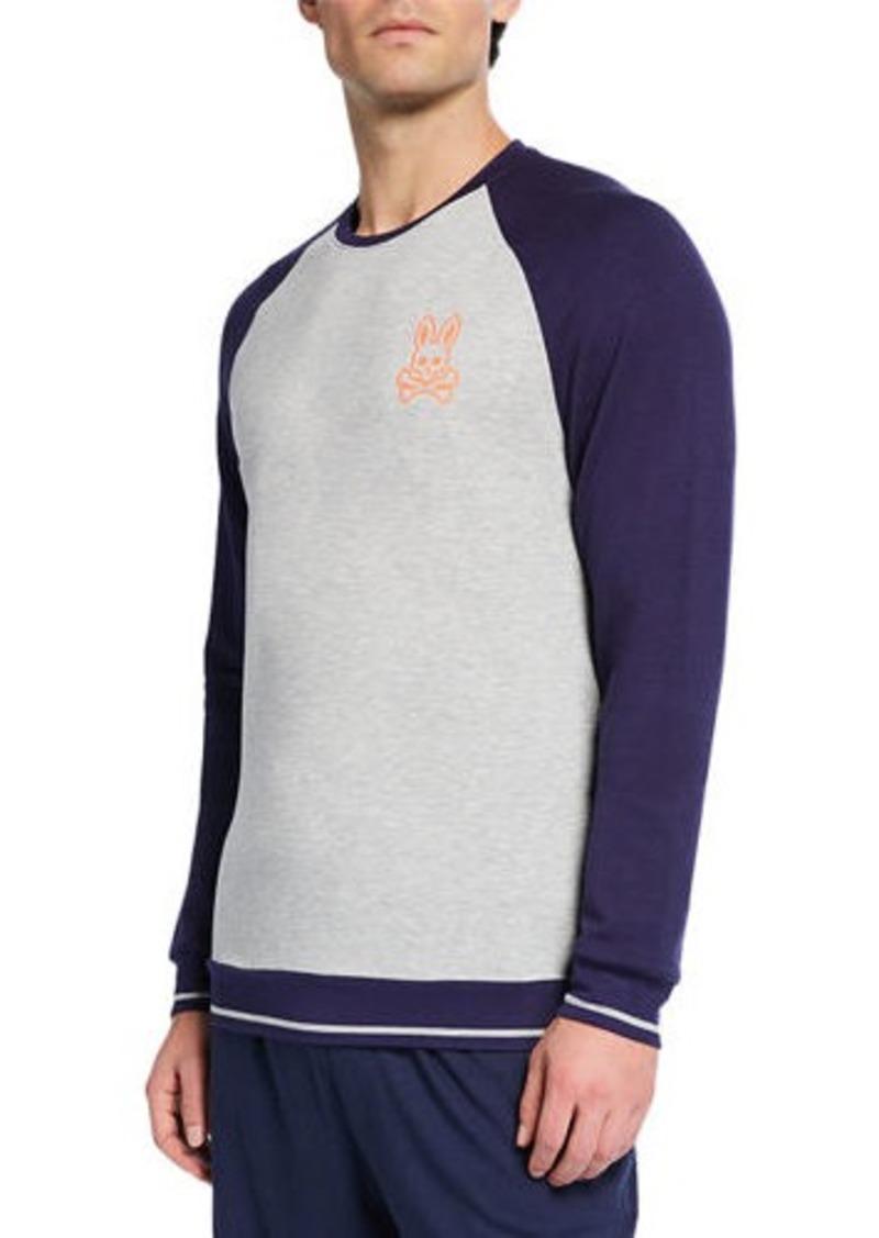 Psycho Bunny Color Pop Long-Sleeve Crewneck Shirt