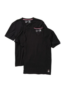Psycho Bunny Cotton Stretch V-neck T-Shirt - Pack of 2