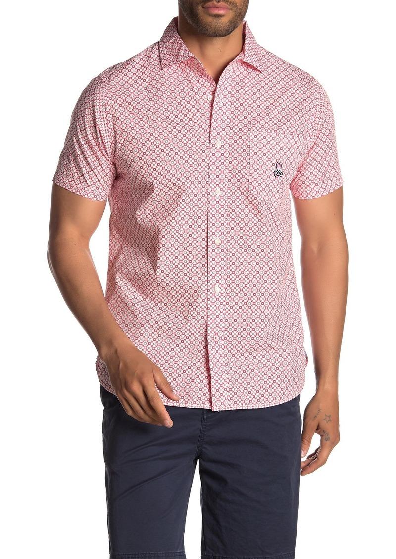 Psycho Bunny Geometric Floral Short Sleeve Shirt
