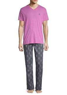 Psycho Bunny Logo Pajama Set