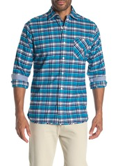Psycho Bunny Long Sleeve Plaid Flannel Trim Fit Shirt