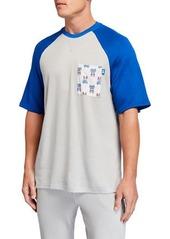 Psycho Bunny Men's Festival Colorblock Raglan Lounge T-Shirt