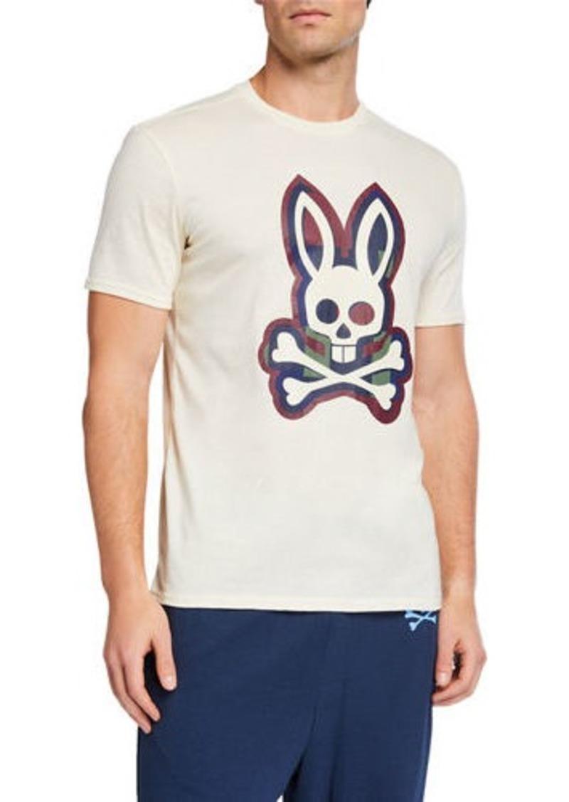 Psycho Bunny Men's Multicolor Bunny Crewneck Tee