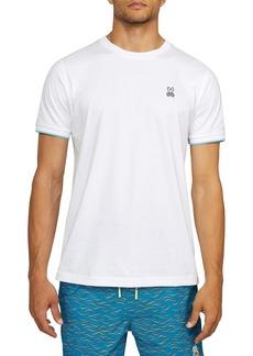 Men's Psycho Bunny Tipped Logo Applique Crewneck T-Shirt
