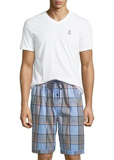Psycho Bunny Men's V-Neck & Shorts Lounge Set