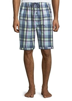 Psycho Bunny Men's Woven Lounge Shorts with Logo