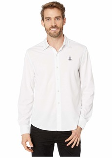 Psycho Bunny Oxford Interlock Long Sleeve Polo