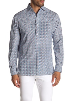 Psycho Bunny Patterned Long Sleeve Shirt