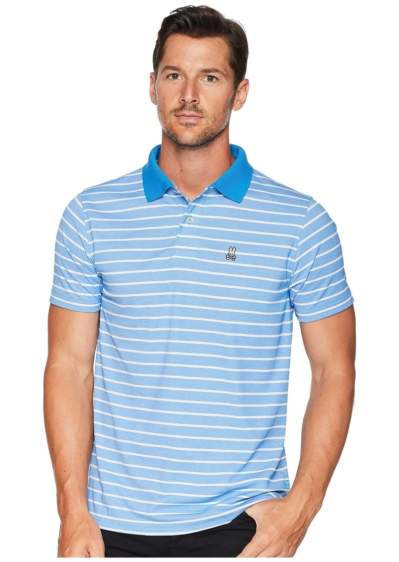 Psycho Bunny Performance Golf Striped Polo