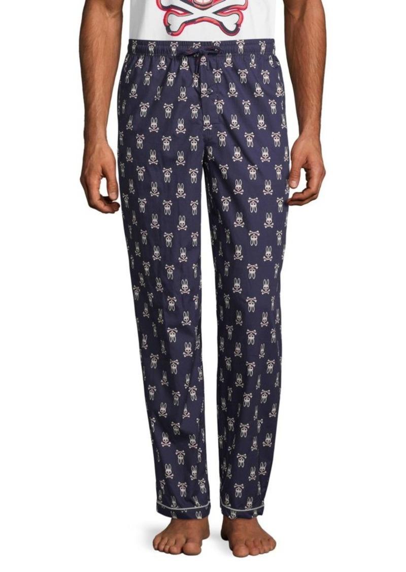 Psycho Bunny Printed Cotton Pajama Pants