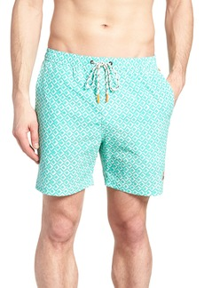 Psycho Bunny Bottoms Drippy Diamond Swim Trunks