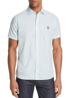 Psycho Bunny Braddon Short-Sleeve Geometric-Print Classic Fit Shirt
