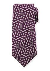 Psycho Bunny Bunny Woven Diamond Tie