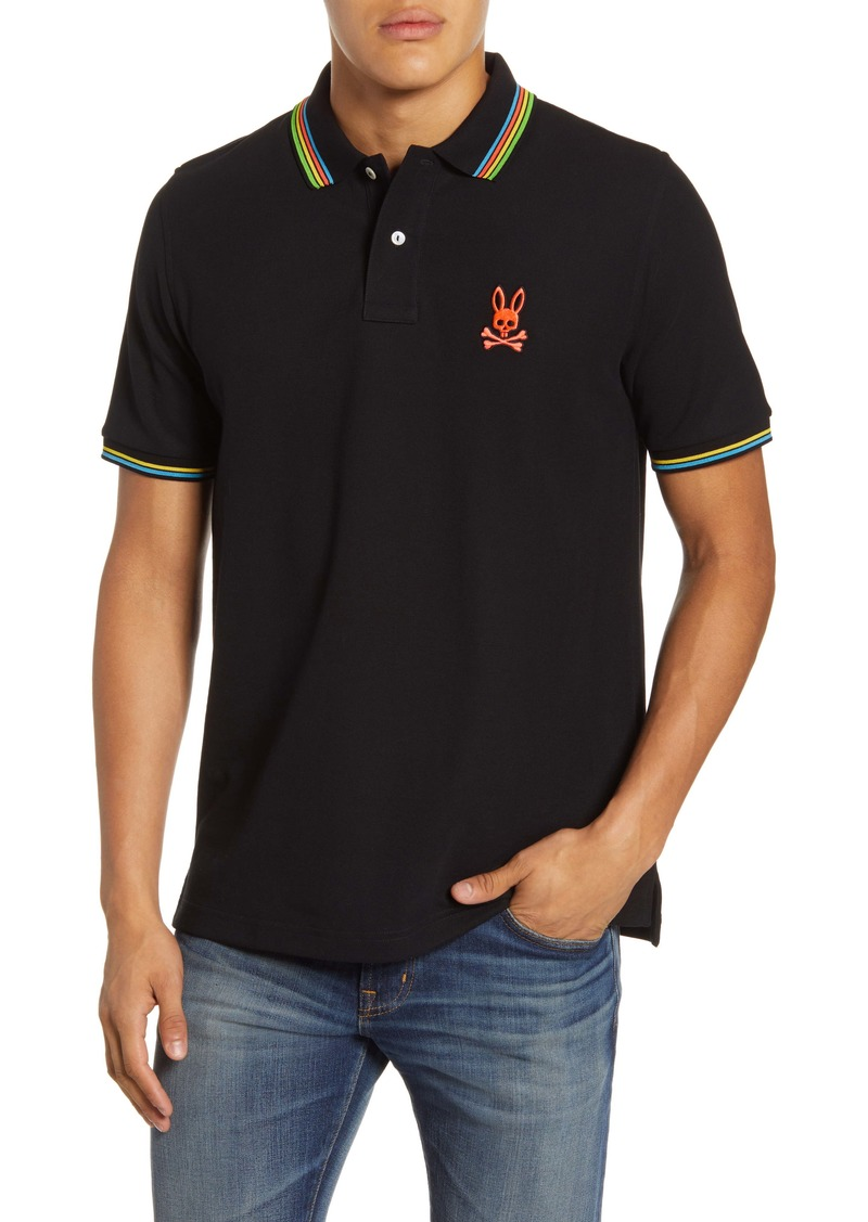 Psycho Bunny Camberwell Tipped Piqué Polo