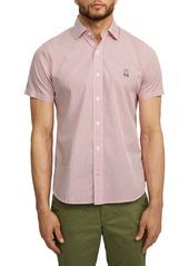 Psycho Bunny Dovestone Short Sleeve Button-Up Shirt