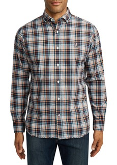Psycho Bunny Dyott Plaid Button-Down Flannel Shirt