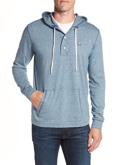 Psycho Bunny Embroidered Henley Hoodie