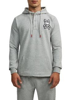 Psycho Bunny Epworth Logo Appliqué Henley Hoodie
