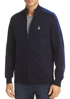 Psycho Bunny Full-Zip Wool Sweater