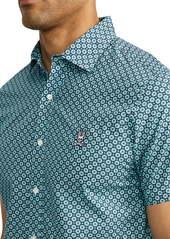 Psycho Bunny Glengall Short Sleeve Pima Cotton Button-Up Shirt