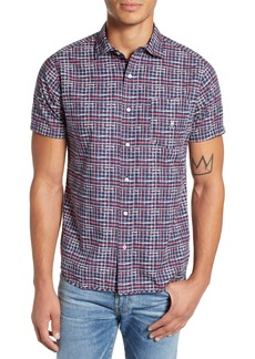 Psycho Bunny Grid Print Camp Shirt