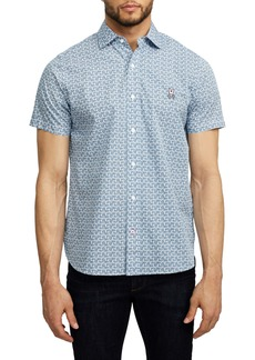 Psycho Bunny Hallington Short Sleeve Button-Up Shirt
