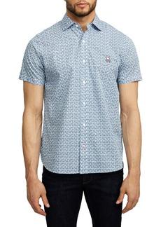 Psycho Bunny Hallington Short Sleeve Button-Up Shirt