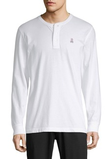Psycho Bunny Long-Sleeve Cotton Henley