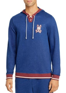 Psycho Bunny Lounge Lace-Up Hooded Sweatshirt