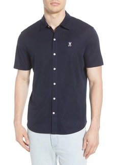 Psycho Bunny Oxford Short Sleeve Pima Cotton Button-Up Sport Shirt