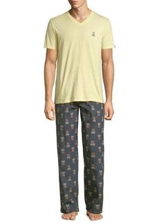 Psycho Bunny Printed Pajamas