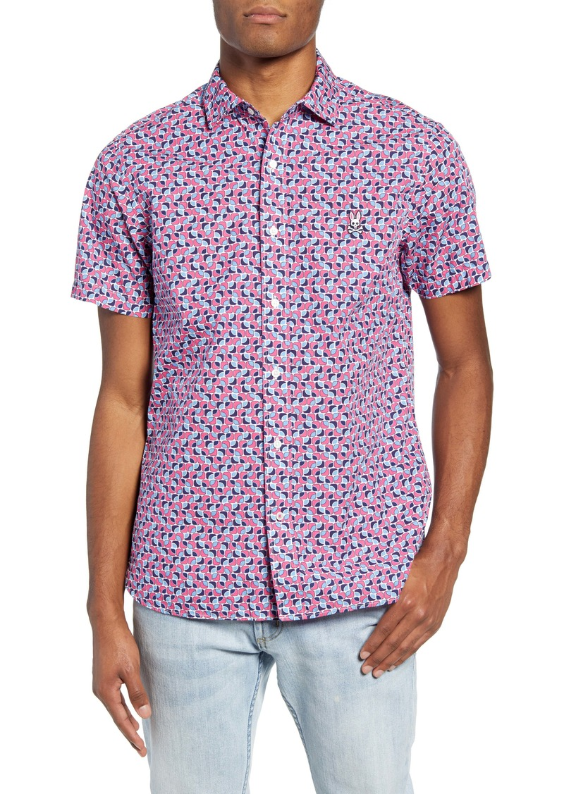 Psycho Bunny Short Sleeve Button-Up Shirt