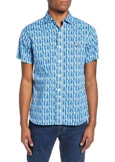 Psycho Bunny Short Sleeve Button-Up Shirt