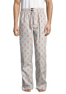 Psycho Bunny Skull-Print Cotton Pants
