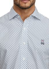 Psycho Bunny Skye Geo Print Woven Shirt