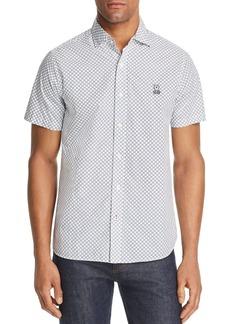 Psycho Bunny Skye Short-Sleeve Geometric-Print Classic Fit Shirt