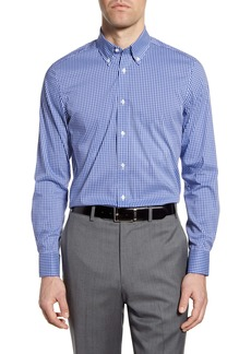 Psycho Bunny Slim Fit Stretch Non-Iron Check Dress Shirt