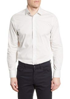 Psycho Bunny Slim Fit Stretch Non-Iron Dot Dress Shirt