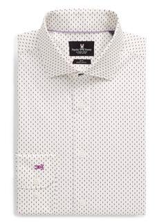 Psycho Bunny Slim Fit Stretch Non-Iron Dot Dress Shirt