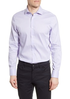 Psycho Bunny Slim Fit Stretch Non-Iron Plaid Dress Shirt
